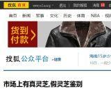 搜狐公众平台健康栏目抄文章《市场上有真灵芝,假灵芝鉴别》